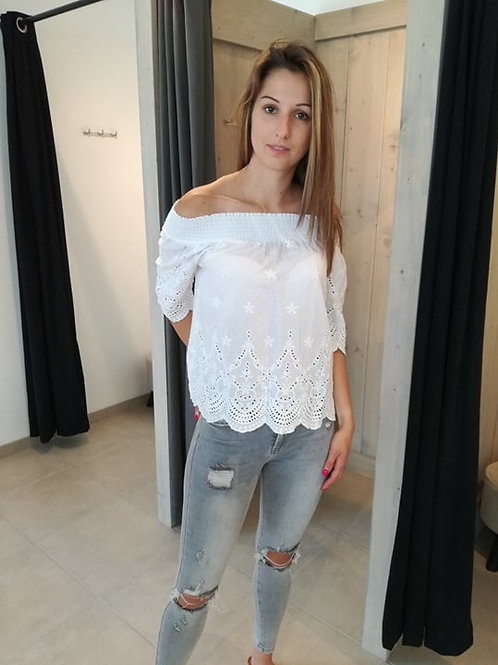 Witte boho bloes