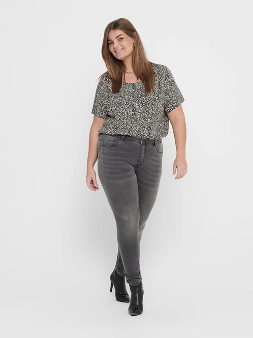 ONLY dark grey denim high waist