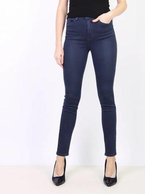 TOXIK high waist basic blue
