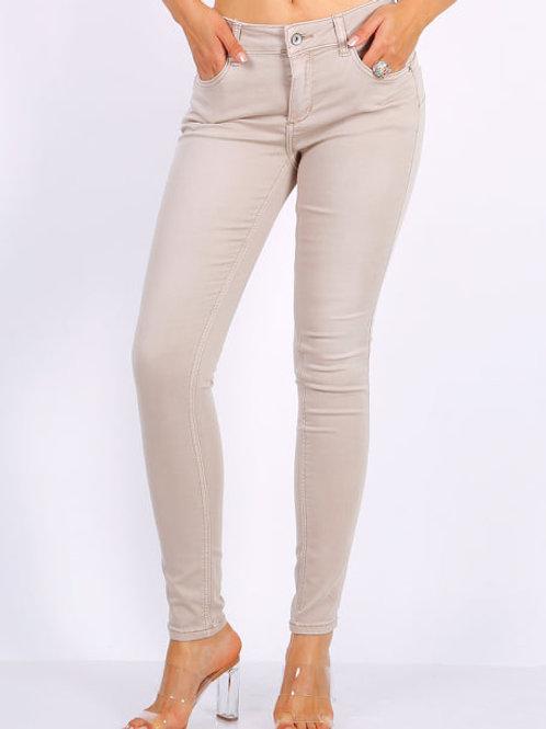 TOXIK Regular waist push up beige