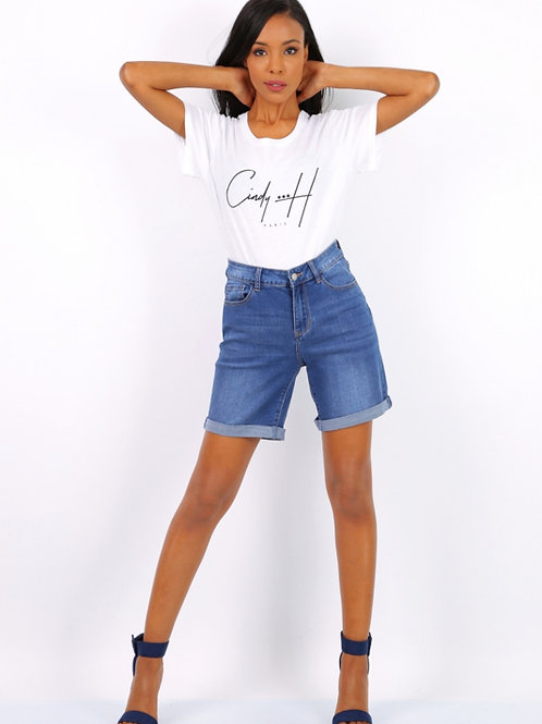 Short Cindy H dark jeans (grote maten)