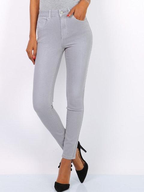 TOXIK mid waist light gray