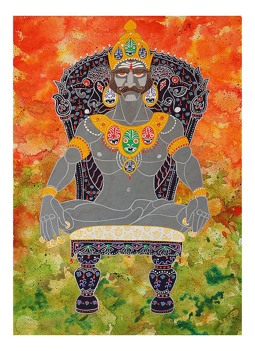 Ravana Enthroned (Fine Art Print)