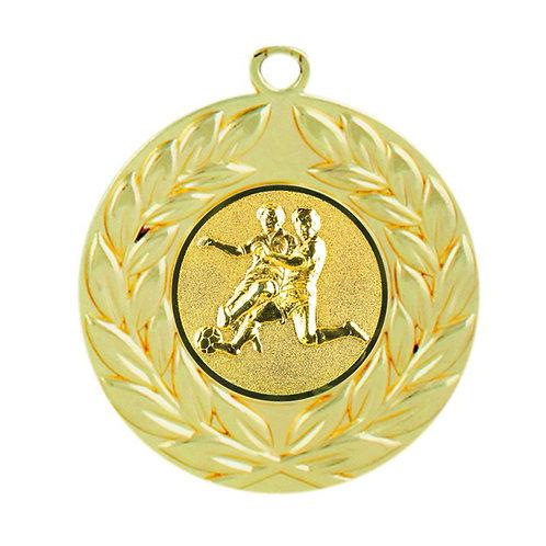 50 mm Gull Medalje ME.003.01.C  med sentermerke