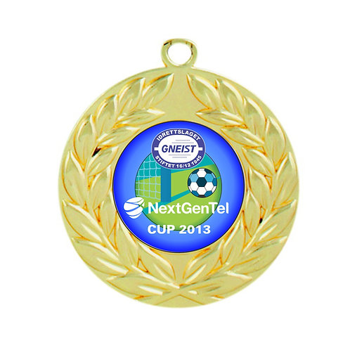 Gull medalje 10 cm