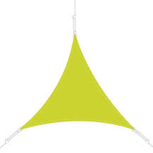 Voile d'ombrage 4/4/4 vert pomme