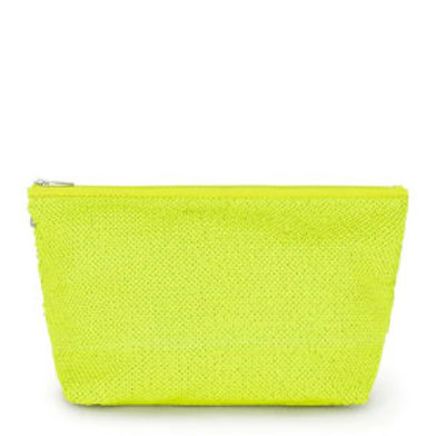 Bolsa média Kaos Shock Sequins Amarelo Fluorescente