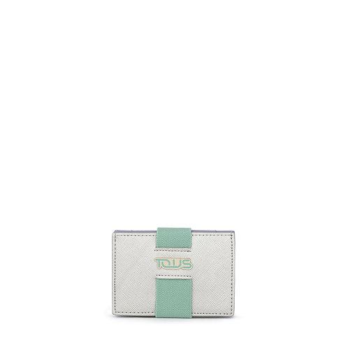 Carteira Pequena New Essence Prateado - Verde