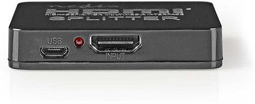 Nedis VSPL34002BK video splitter HDMI 2x HDMI