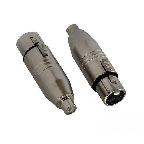 1 X Adapter RCAf/XLRf