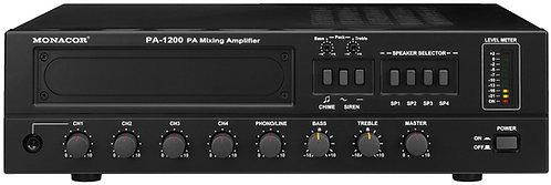 MONACORD PA 1200 + 4 SPEAKERS   100 V
