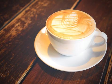 caramel macchiato hot of coffee drink on