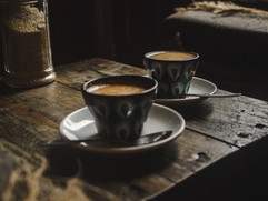 Two_cortado_coffees_in_hand-painted_coff