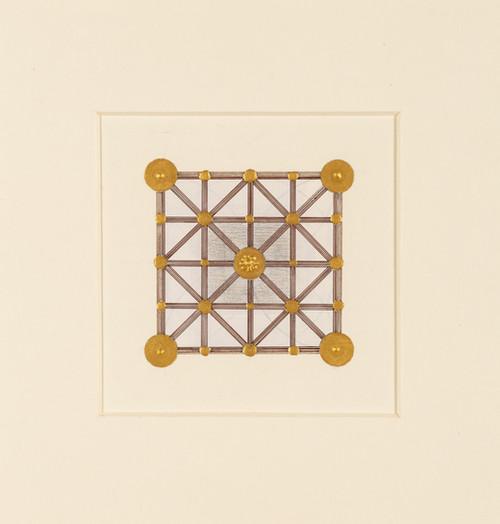 〈通往公園的路〉,2019,水彩、礦顏、墨、無酸美術館紙板,23.5×23.5(