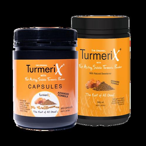 TurmeriX Powder and Capsules Bundle