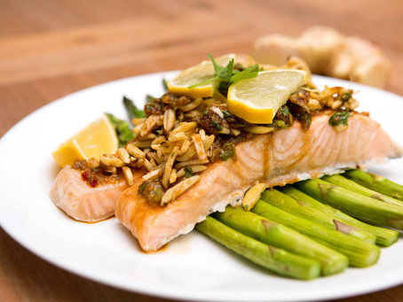 Ginger and Spiced Almond Salmon