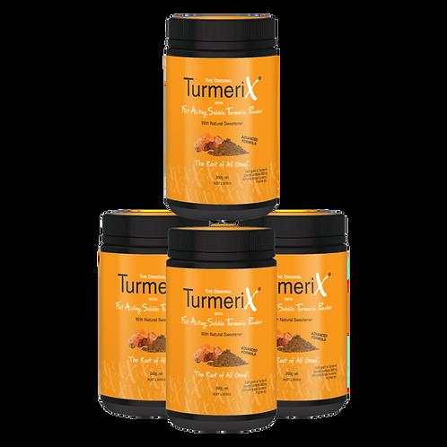 4x TurmeriX Powder 360gm Tubs (save $45)