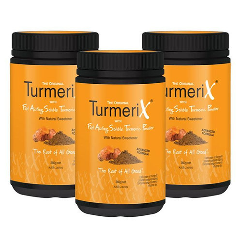 3x TurmeriX Powder 360gm Tubs (save $45)