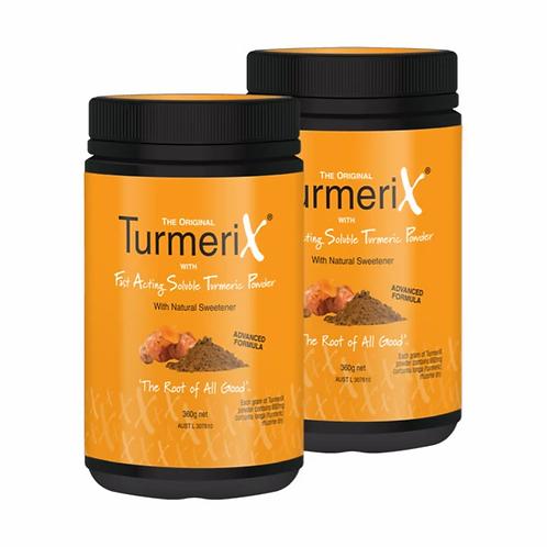 2x TurmeriX Powder 360g Tub (save $20)