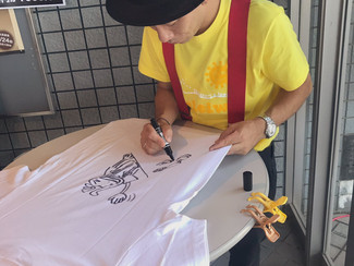 【夏休みスペシャル企画!】わたなべ画伯のイラストTシャツ販売 in 栃木