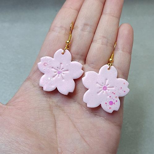 Boucles d'oreilles Sakura délicat (grandes fleurs)