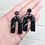 Thumbnail: Boucles d'oreilles Marbre noir arches