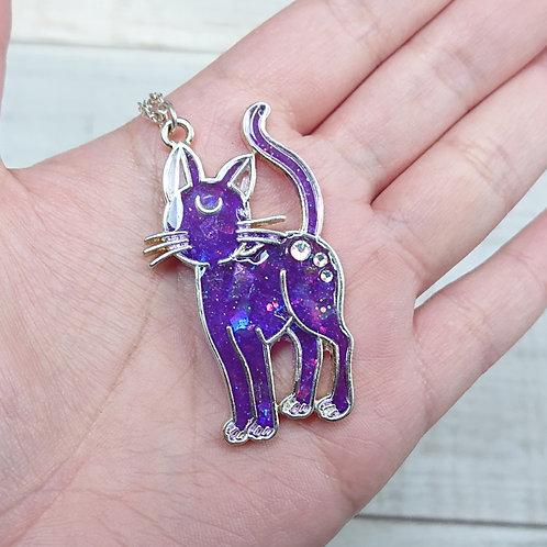 Collier Magical Cat violet