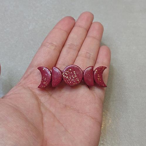 """Barrette Lunes """"Crimson"""" clip (taille: petite)"""