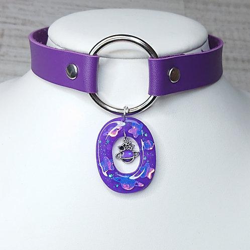 Choker violet Saturne