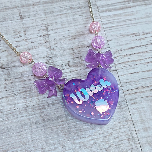 Collier Witch coeur