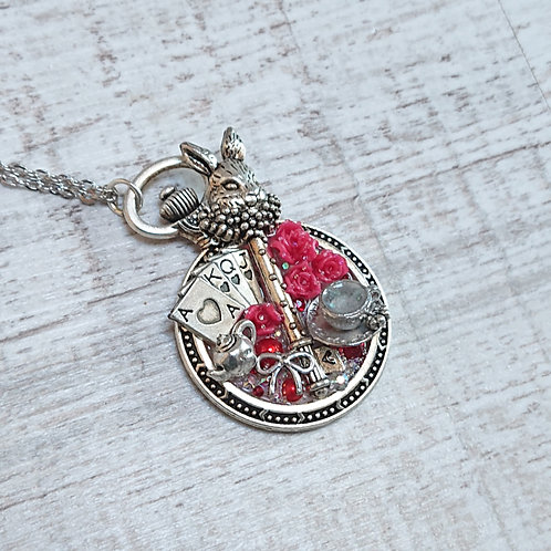 Collier Alice Lapin rouge