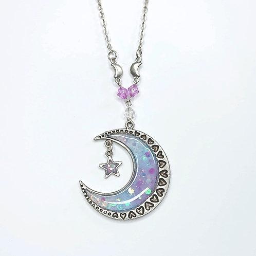 Collier Lune pastel étoile