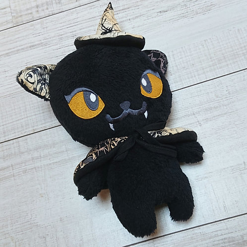 Peluche chat sorcier noir