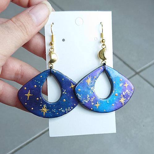 Boucles d'oreilles galaxy #03