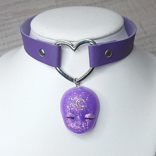 Choker violet Alien Doll