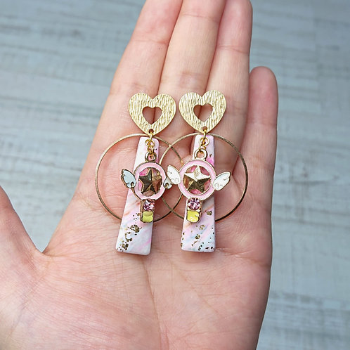 Boucles d'oreilles Magical Girl sceptre