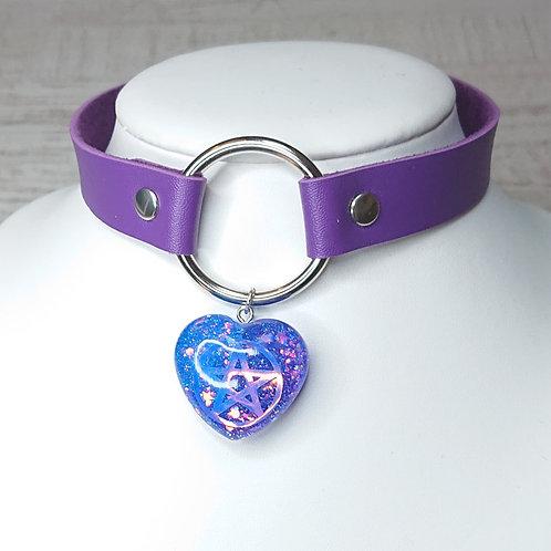 Choker violet pentacle