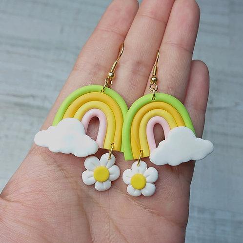 "Boucles d'oreilles ""Lovely Daisy"" arc en ciel"