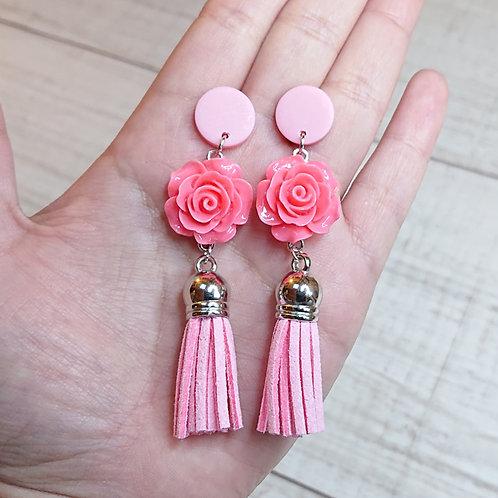 """Boucles d'oreilles """"Romance"""" roses"""