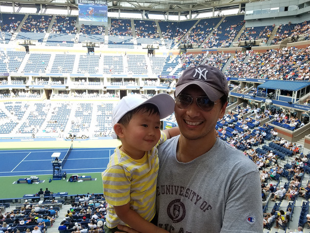 Arthur Ashe Stadium with Daddy