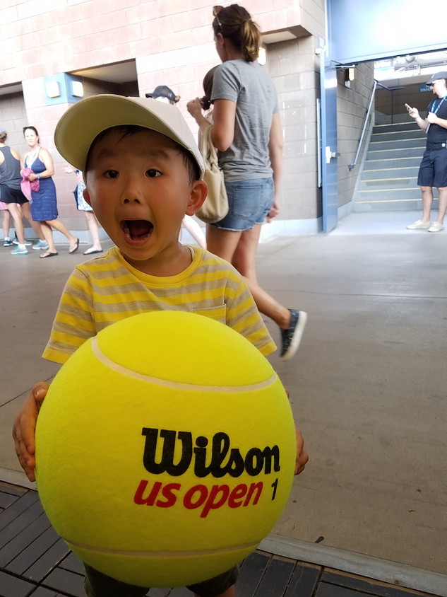 I'm at the U.S. Open!