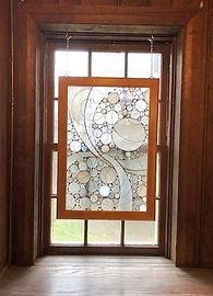 "Stained glass window entitled ""Snowstorm"""