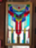 """Stained glass window entitled """"Our Forefathers"""""""