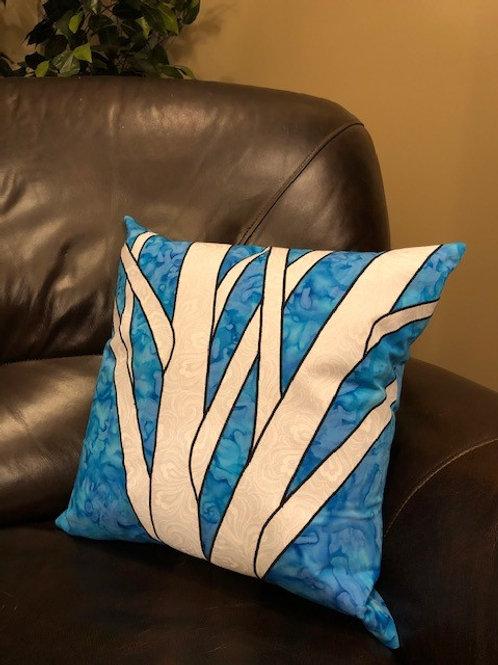 Turquoise & Navy Birch Pillows