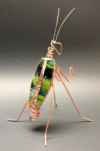 Mottled Green Praying Mantis