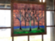 """Stained glass window entitled """"The Grove"""""""
