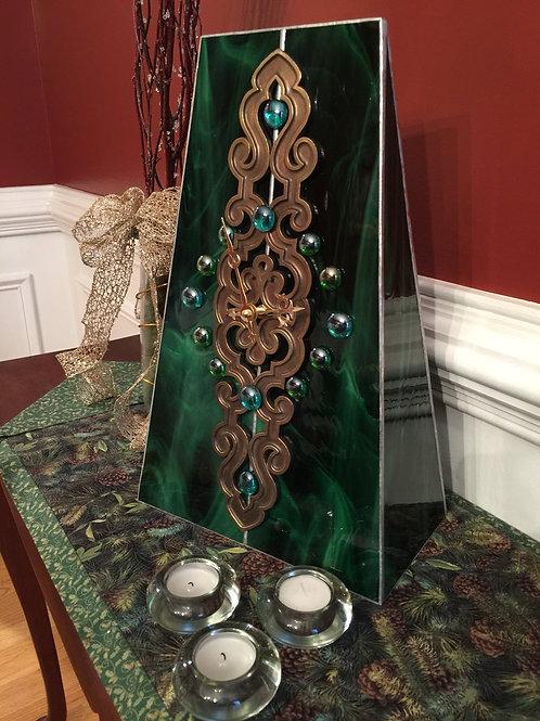 Emerald Green mantle clock