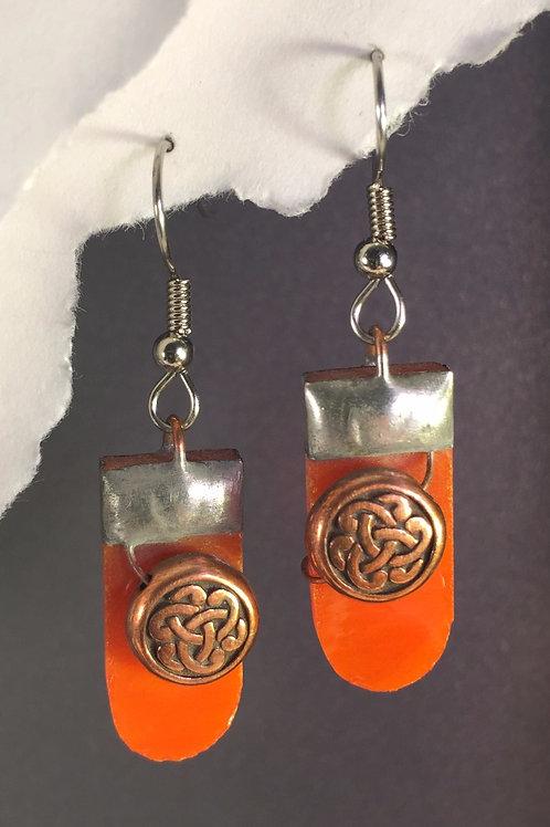 Tangerine orange french wire earrings (medium)