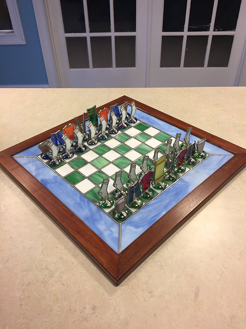 """Laundry Day"" Chess Set"