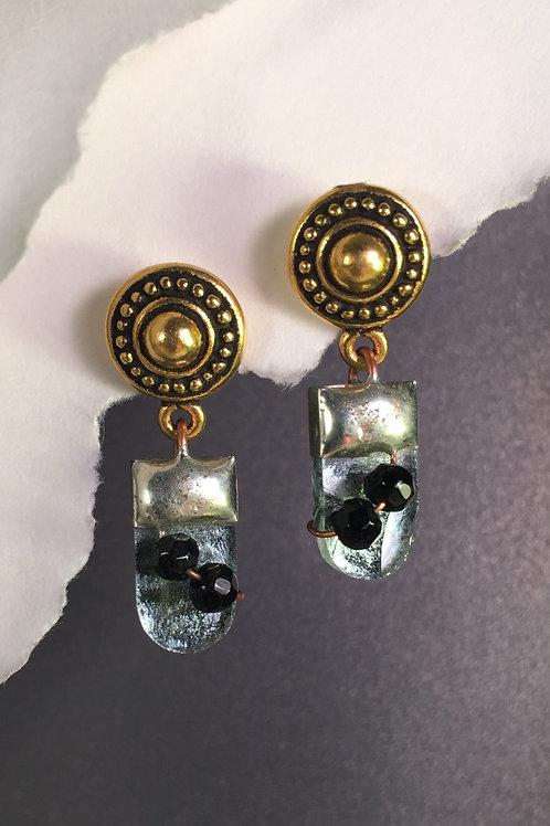 Van Gogh silver ball post earrings (medium)
